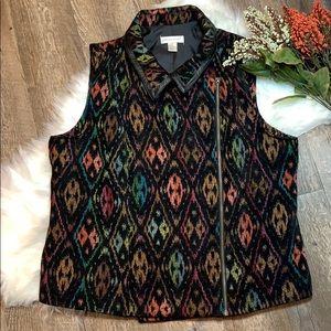 Christopher & Banks Embroidered Vest